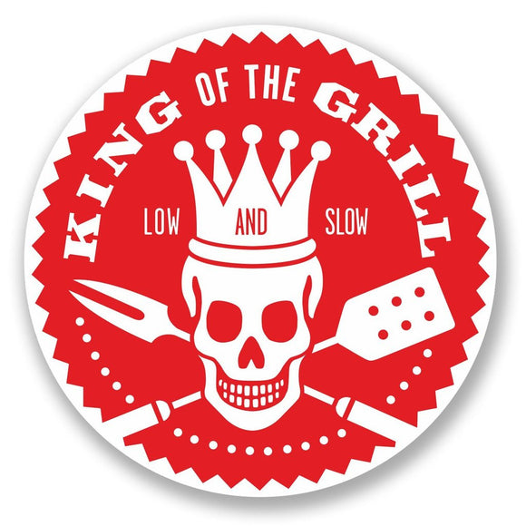 2 x BBQ King of the Grill Vinyl Sticker #5449