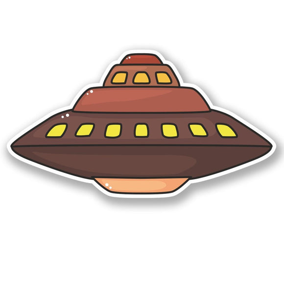 2 x UFO Alien Vinyl Sticker #5450