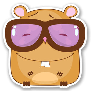 2 x Geek Hamster Vinyl Sticker #5470