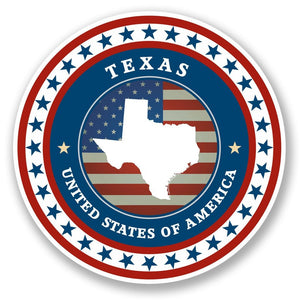 2 x Texas USA Vinyl Sticker #5496