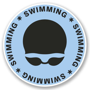 2 x Swimming Vinyl Sticker #5503