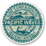 2 x Hawaii Surf Camp Vinyl Sticker #5512