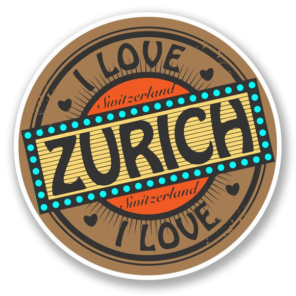 2 x Zurich Switzerland Vinyl Sticker #5514