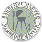 2 x BBQ Barbeque Master Vinyl Sticker #5517