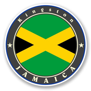 2 x Jamaica Vinyl Sticker #5519