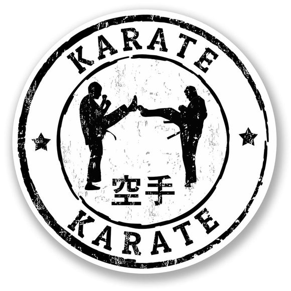 2 x Karate Vinyl Sticker #5520