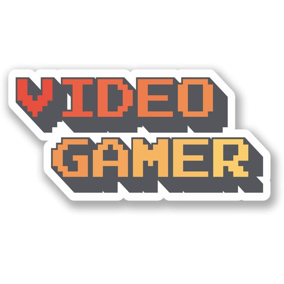 2 x Retro Video Gamer Vinyl Sticker #5531