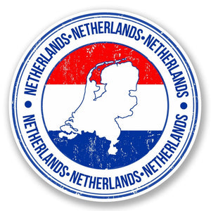 2 x Netherlands Vinyl Sticker #5537