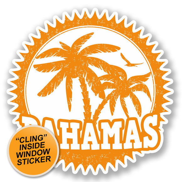 2 x Bahamas WINDOW CLING STICKER Car Van Campervan Glass #5539