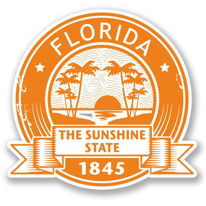 2 x Florida USA Vinyl Sticker #5549
