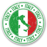 2 x Italy Flag Vinyl Sticker #5550