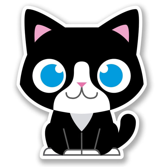 2 x Black Cat Vinyl Sticker #5575