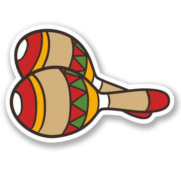 2 x Mexican Maracas Vinyl Sticker #5576