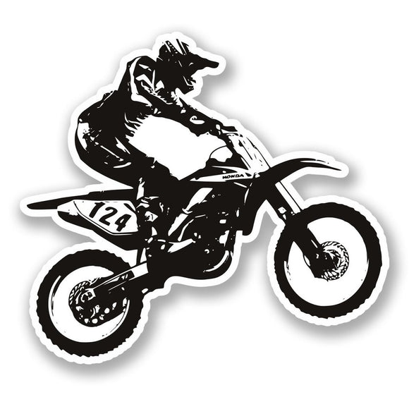 2 x Motorcross Bike Vinyl Sticker #5580