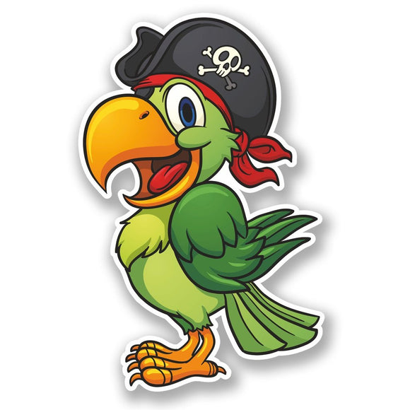2 x Pirate Parrot Vinyl Sticker #5585
