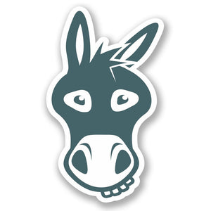 2 x Donkey Vinyl Sticker #5600