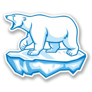 2 x Polar Bear Vinyl Sticker #5624