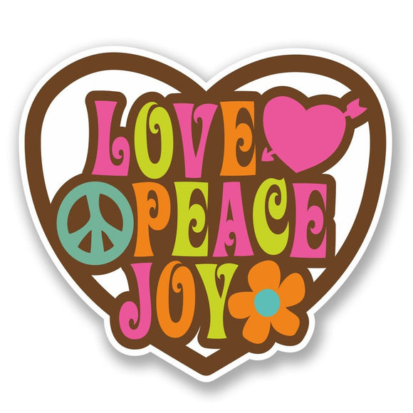 2 x Love Peace Joy Vinyl Sticker #5638