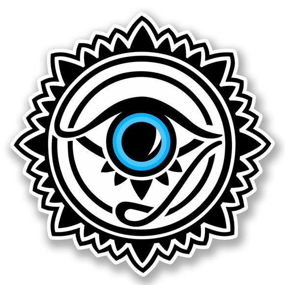 2 x All Seeing Eye Vinyl Sticker #5653