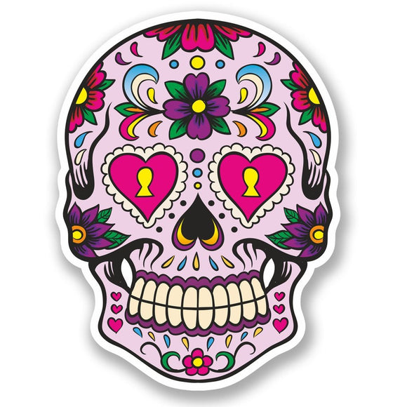 2 x Sugar Skull Vinyl Sticker #5669