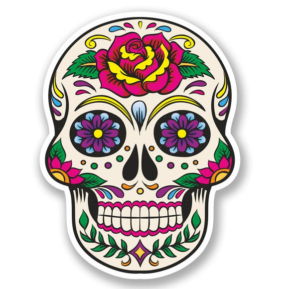 2 x Sugar Skull Vinyl Sticker #5670