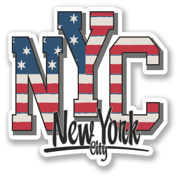 2 x New York City USA Vinyl Sticker #5747