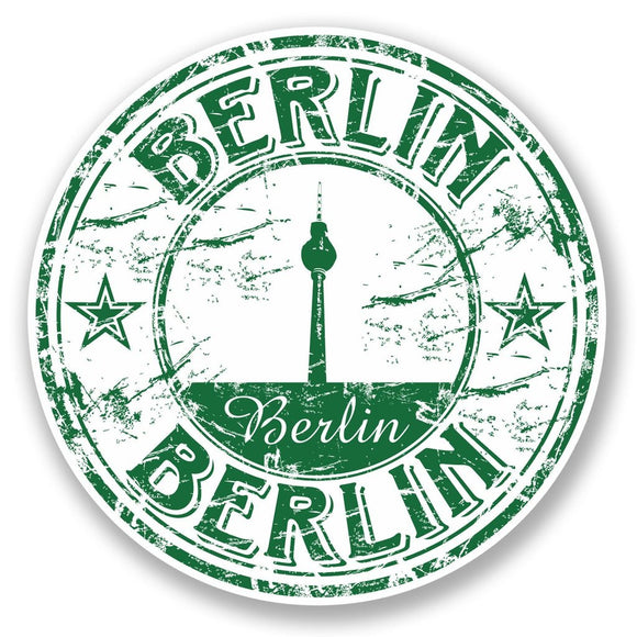 2 x Berlin Germany Vinyl Sticker #5763