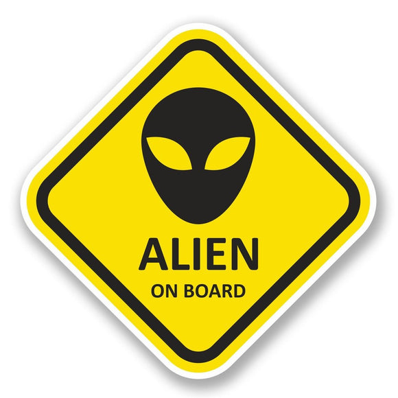 2 x Alien on Board Vinyl Sticker #5790