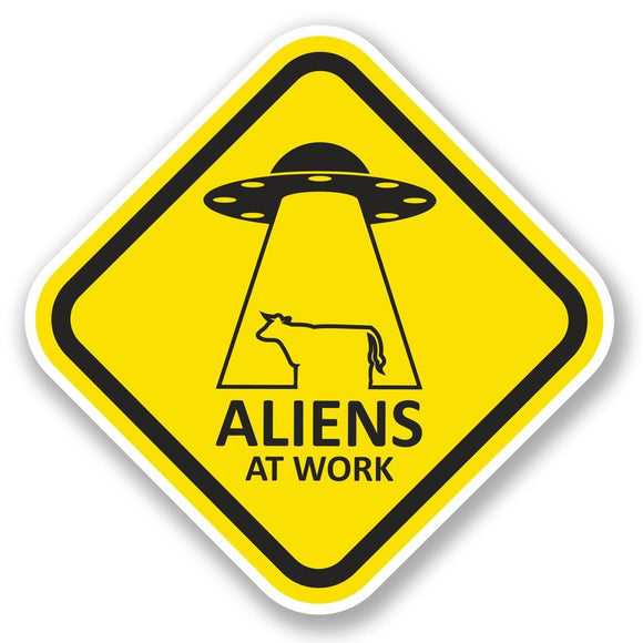 2 x Aliens at Work Vinyl Sticker #5791