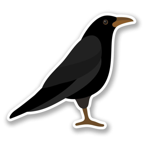 2 x Raven Crow Blackbird Vinyl Sticker #5819