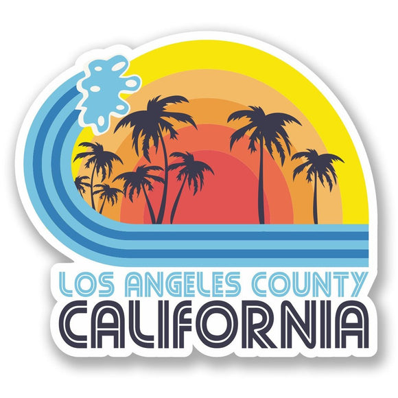 2 x Los Angeles California Vinyl Sticker #5825