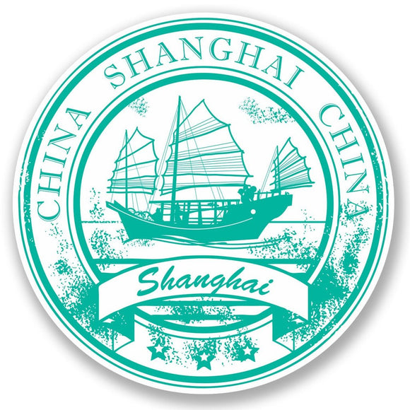 2 x Shanghai China Vinyl Sticker #5831