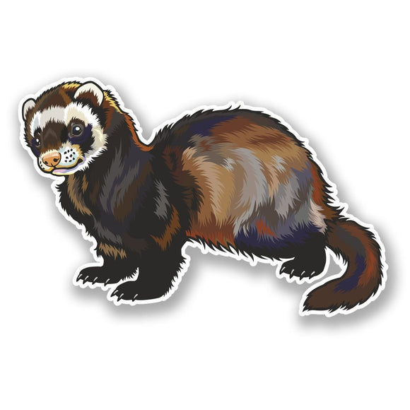 2 x Ferret Vinyl Sticker #5850