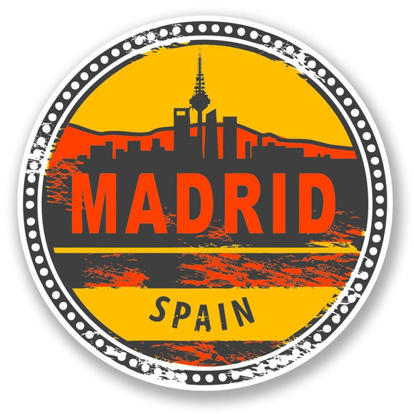 2 x Madrid Spain Vinyl Sticker #5852