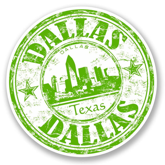 2 x Dallas Texas USA Vinyl Sticker #5864