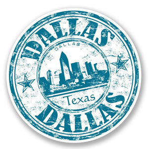 2 x Dallas Texas USA Vinyl Sticker #5865