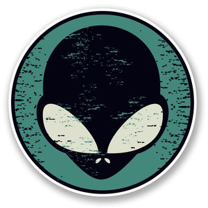 2 x Alien Vinyl Sticker #5868