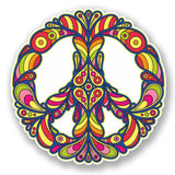 2 x Colourful Peace Symbol Vinyl Sticker #5874