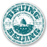 2 x Beijing China Vinyl Sticker #5890
