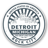 2 x Detroit USA Vinyl Sticker #5893