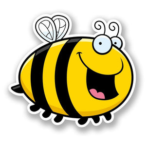 2 x Happy Honey Bee Vinyl Sticker #5897