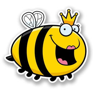 2 x Queen Honey Bee Vinyl Sticker #5899