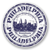 2 x Philadelphia USA Vinyl Sticker #5902