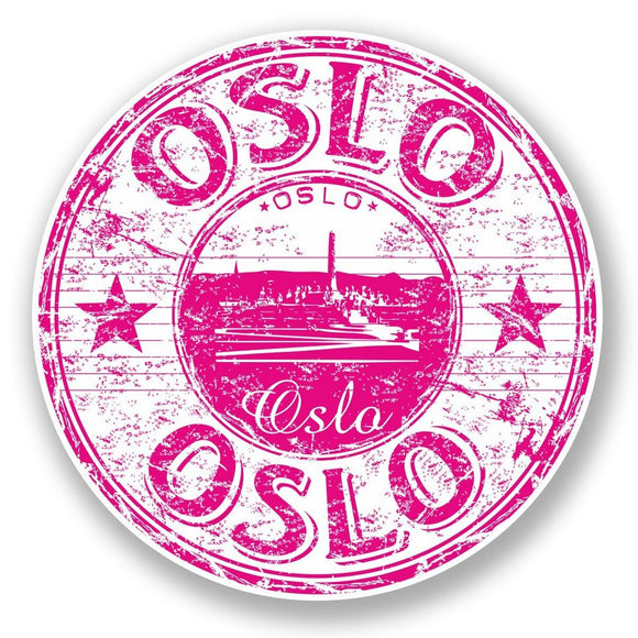 2 x Oslo Norway Vinyl Sticker #5912
