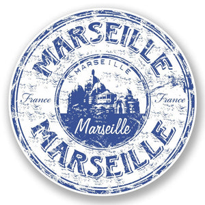 2 x Marseille France Vinyl Sticker #5913