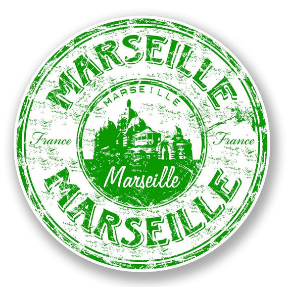 2 x Marseille France Vinyl Sticker #5914