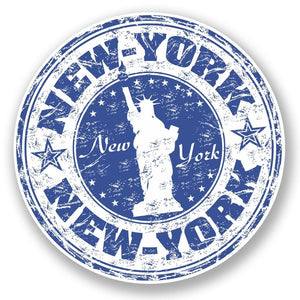 2 x New York USA Vinyl Sticker #5920