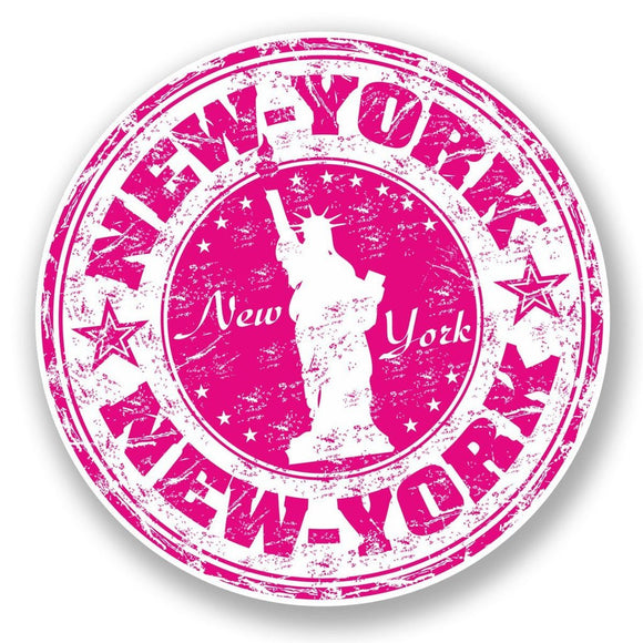 2 x New York USA Vinyl Sticker #5921