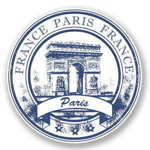 2 x Paris Arc de Triomphe France Vinyl Sticker #5926