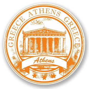 2 x Greece Athens Vinyl Sticker #5930
